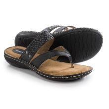 Hush Puppies Holly York IIV Sandals - Leather (For Women) in Black - Closeouts