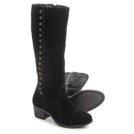 Hush Puppies Ideal Nellie Boots - Suede (For Women) in Black Suede - Closeouts