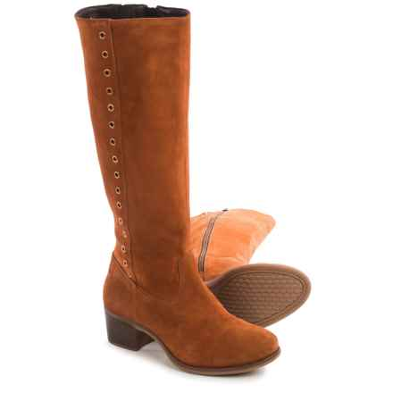 Hush Puppies Ideal Nellie Boots - Suede (For Women) in Cognac Suede - Closeouts