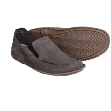 Hush Puppies Keenan Roller Nubuck Moccasins (For Men) in Dark Grey Nubuck - Closeouts