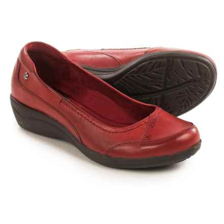 Hush Puppies Kellin Oleena Shoes - Leather, Slip-Ons (For Women) in Red - Closeouts