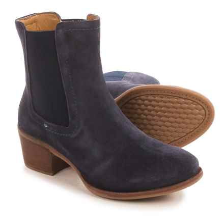 Hush Puppies Landa Nellie Chelsea Boots - Suede (For Women) in Navy - Closeouts