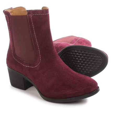 Hush Puppies Landa Nellie Chelsea Boots - Suede (For Women) in Wine - Closeouts