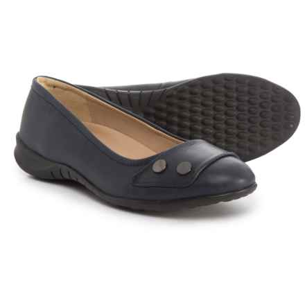 Hush Puppies Lara Bria Ballet Flats - Suede (For Women) in Dark Saphire Leather - Closeouts