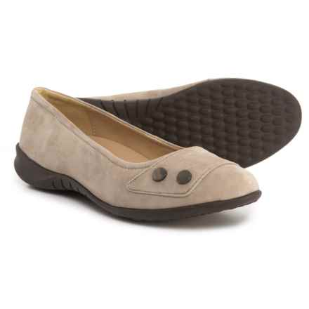 Hush Puppies Lara Bria Ballet Flats - Suede (For Women) in Ice Grey Suede - Closeouts