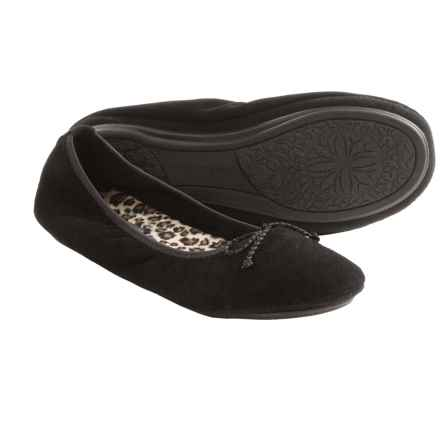 Hush Puppies Lilac Suede Slippers (For Women) in Black - Closeouts