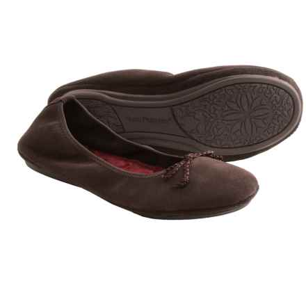 Hush Puppies Lilac Suede Slippers (For Women) in Espresso - Closeouts