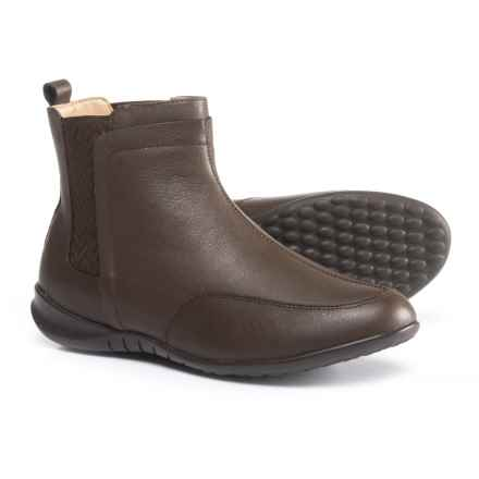 Hush Puppies Lindsi Bria Chelsea Boots - Waterproof, Leather (For Women) in Dark Brown Waterproof Leather - Closeouts