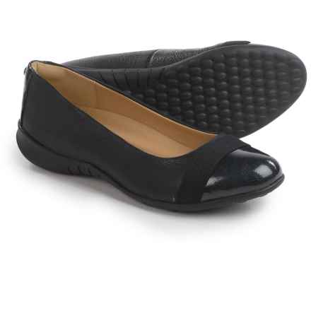Hush Puppies Linzi Bria Ballet Flats - Leather (For Women) in Black Leather - Closeouts