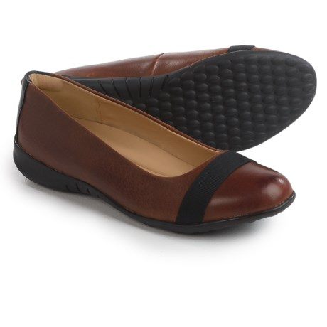 Hush Puppies Linzi Bria Ballet Flats - Leather (For Women) in Brown Leather