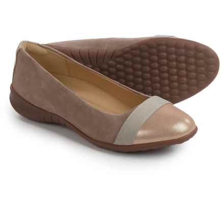 Hush Puppies Linzi Bria Ballet Flats - Leather (For Women) in Taupe Leather - Closeouts