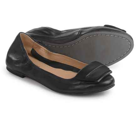 Hush Puppies Livi Heather Ballet Flats - Leather (For Women) in Black Leather - Closeouts