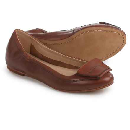 Hush Puppies Livi Heather Ballet Flats - Leather (For Women) in Tan Leather - Closeouts