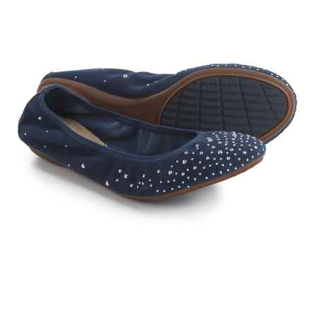 Hush Puppies Lolly Chaste Flats - Suede (For Women) in Navy Nubuck - Closeouts