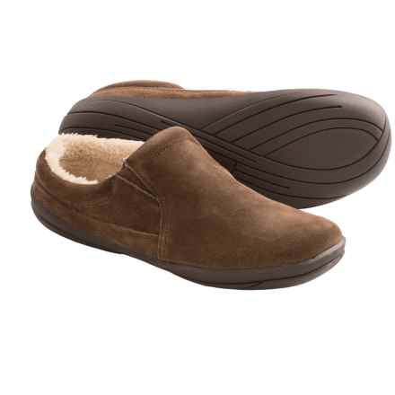 Hush Puppies Lombardy Suede Slippers (For Men) in Brown - Closeouts