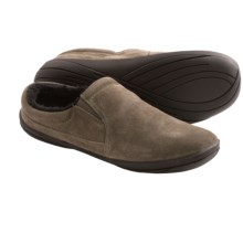 Hush Puppies Lombardy Suede Slippers (For Men) in Elephant - Closeouts