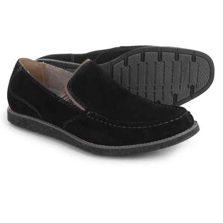Hush Puppies Lorens Jester Loafers - Leather (For Men) in Black Suede - Closeouts