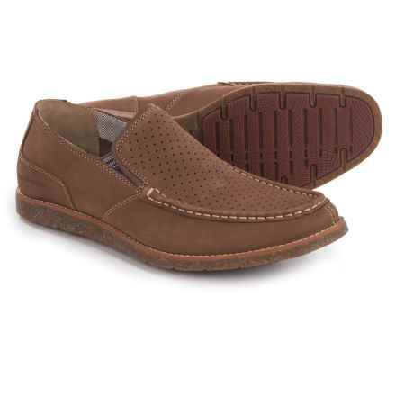 Hush Puppies Lorens Jester Loafers - Leather (For Men) in Brown Nubuck - Closeouts