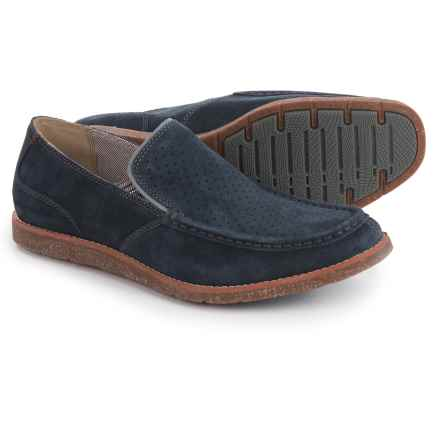 Hush Puppies Lorens Jester Loafers - Leather (For Men) in Navy Suede - Closeouts