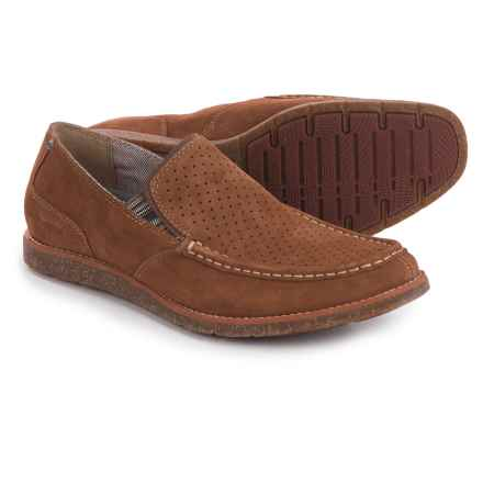 Hush Puppies Lorens Jester Loafers - Leather (For Men) in Rust Suede - Closeouts