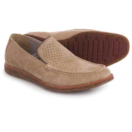 Hush Puppies Lorens Jester Loafers - Leather (For Men) in Taupe Suede - Closeouts