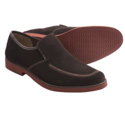 Hush Puppies Lou Shoes - Suede, Slip-Ons (For Men) in Black Suede