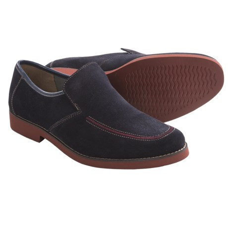 Hush Puppies Lou Shoes - Suede, Slip-Ons (For Men) in Navy Suede