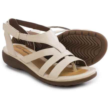 Hush Puppies Maben Keaton Sandals - Leather (For Women) in Off White Leather - Closeouts