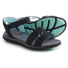 Hush Puppies Margo Aida Sandals (For Women) in Black Nubuck - Closeouts