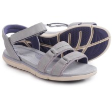 Hush Puppies Margo Aida Sandals (For Women) in Light Grey/Lilac Leather - Closeouts