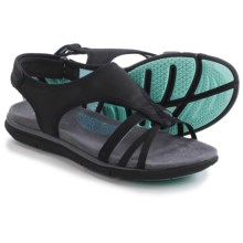 Hush Puppies Miranda Aida Sandals (For Women) in Black Nubuck - Closeouts