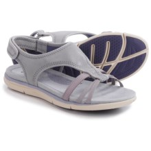 Hush Puppies Miranda Aida Sandals (For Women) in Light Grey/Lilac Leather - Closeouts