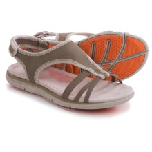 Hush Puppies Miranda Aida Sandals (For Women) in Taupe Nubuck - Closeouts