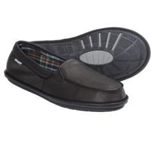 Hush Puppies Moccasin Slippers - Leather, Slip-Ons (For Men) in Black - Closeouts