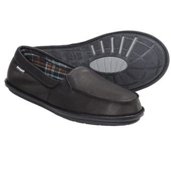 Hush Puppies Moccasin Slippers - Leather, Slip-Ons (For Men) in Black