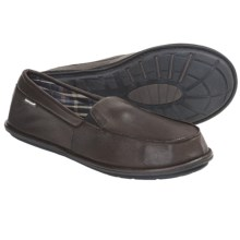 Hush Puppies Moccasin Slippers - Leather, Slip-Ons (For Men) in Brown - Closeouts