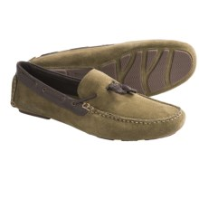 Hush Puppies Monaco Moccasins - Suede (For Men) in Green Suede/Brown Leather - Closeouts