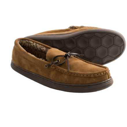 Hush Puppies Northern Oak Suede Slippers (For Men) in Chestnut - Closeouts