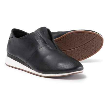 Hush Puppies Odessa Evaro Shoes - Leather, Slip-Ons (For Women) in Black - Closeouts