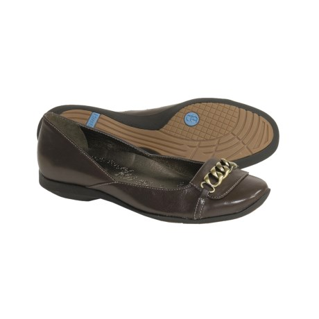 Hush Puppies Parley Leather Shoes (For Women) in Dark Brown