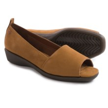 Hush Puppies Petra Carlisle Shoes - Leather, Slip-Ons (For Women) in Tan - Closeouts