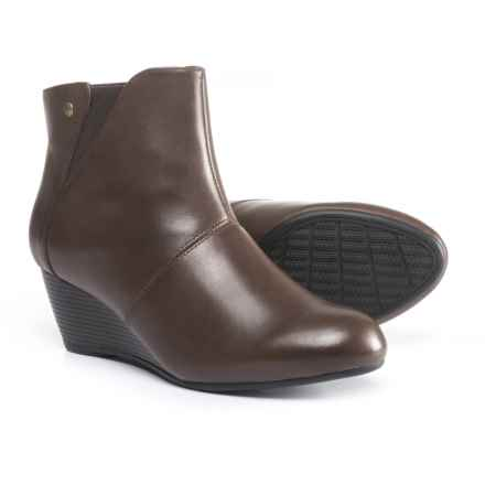 Hush Puppies Poised Rhea Wedge Boots - Waterproof, Insulated, Leather (For Women) in Dark Brown Waterproof Leather - Closeouts