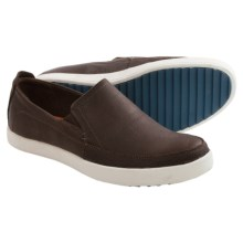 Hush Puppies Roadside Leather Moc Toe Shoes - Slip-Ons (For Men) in Dark Brown Leather - Closeouts