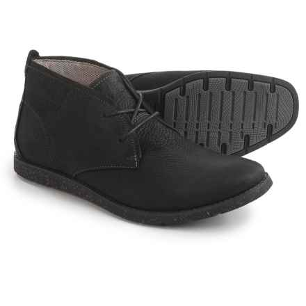 Hush Puppies Roland Jester Chukka Boots - Suede (For Men) in Midnight Leather - Closeouts