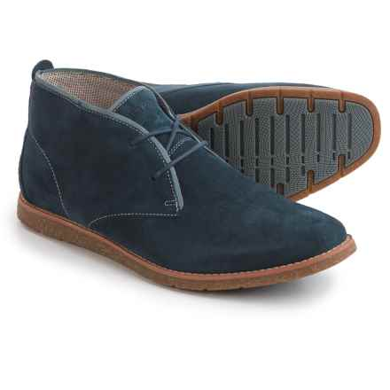 Hush Puppies Roland Jester Chukka Boots - Suede (For Men) in Navy Suede - Closeouts
