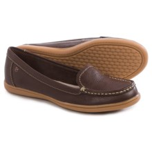 Hush Puppies Ryann Claudine Shoes - Leather, Slip-Ons (For Women) in Chocolate - Closeouts