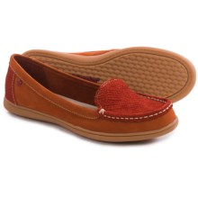 Hush Puppies Ryann Claudine Shoes - Leather, Slip-Ons (For Women) in Dark Orange - Closeouts