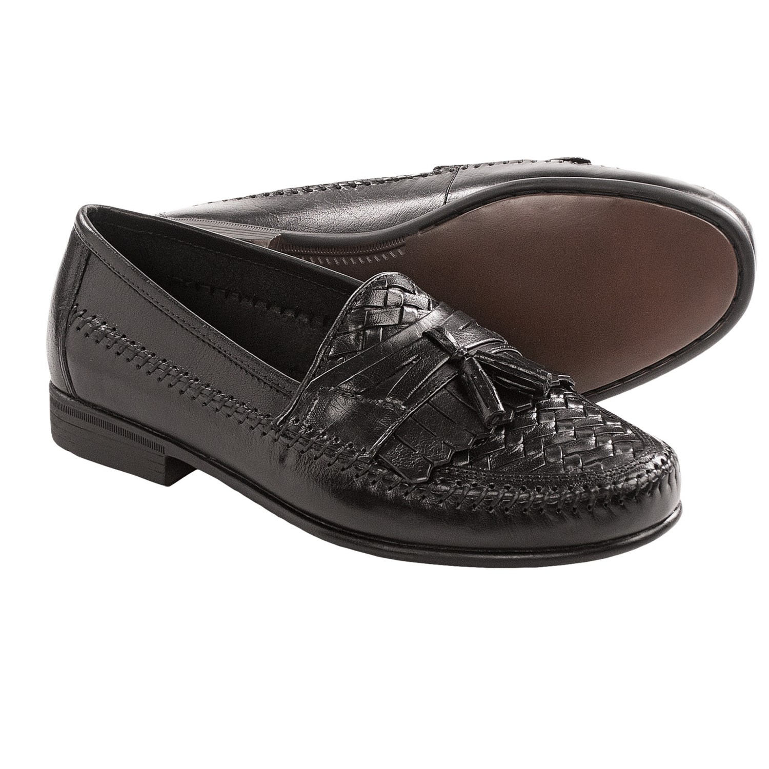 Hush puppies san remo iii loafers leather slip ons for men in