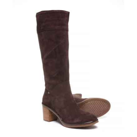Hush Puppies Saun Olivya Tall Boots - Suede (For Women) in Dark Brown Suede - Closeouts
