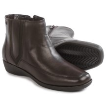 Hush Puppies Sharla Carlisle Ankle Boots - Leather (For Women) in Dark Brown - Closeouts
